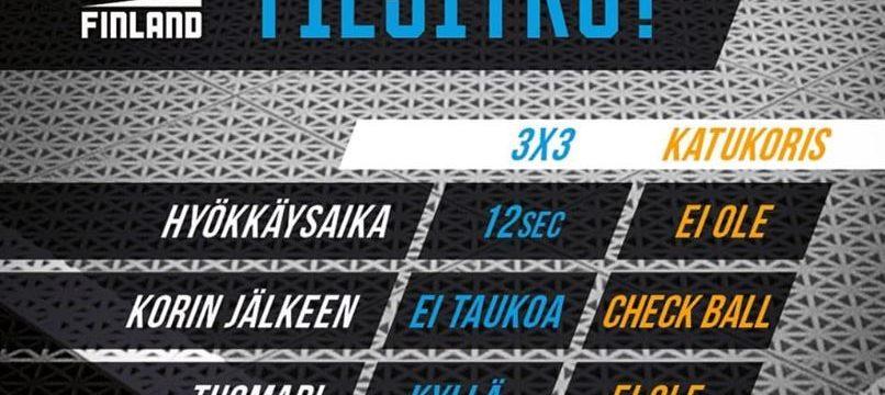 3x3-koris on uusi olympialaji – tule katukoristurnaukseen 15.-16–6- Satamatorille