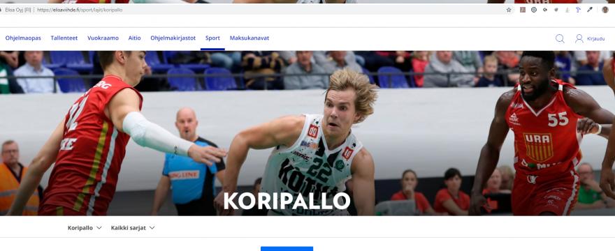 Namikan pelit Elisa Viihteen kautta katsottavissa 2019 – 2020