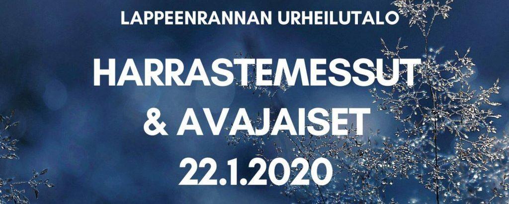 22.1. Harrastemessut Lappeenrannan urheilutalolla, Namika myös mukana!